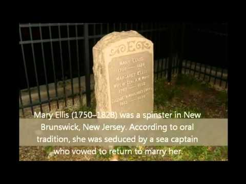 THE GRAVE OF MARY ELLIS NEW BRUNSWICK NJ