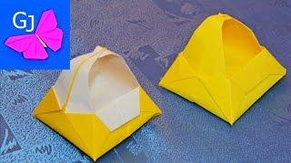 Оригами Коробочка Корзинка из бумаги