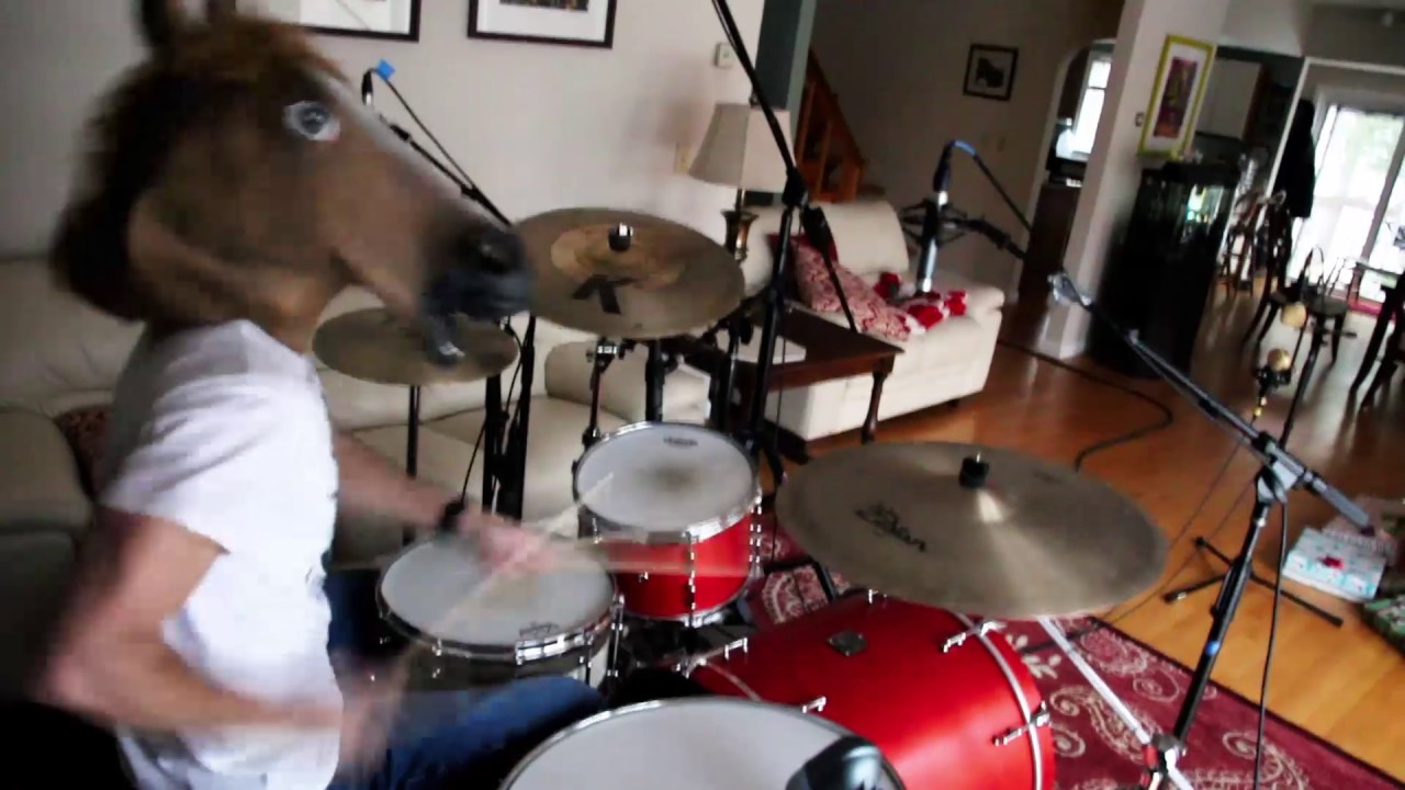 Horse Playing Drums
