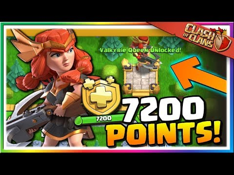UNLOCKING The Valkyrie Queen Skin   Gem The July Season Pass In Clash Of Clans!