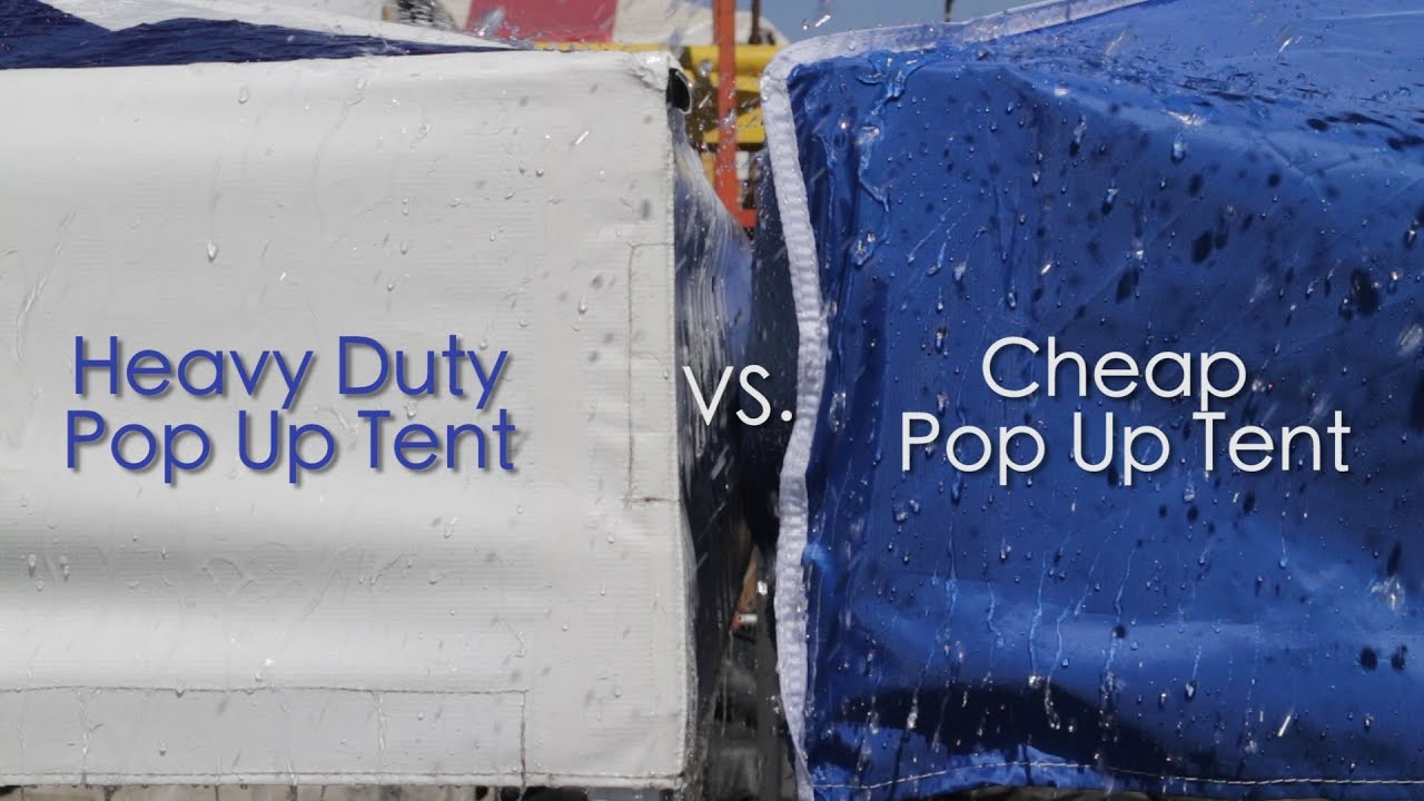 How to care for a custom made pop up tent?