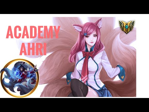 League of Legends | Mastery level 7 Ahri Gameplay | Academy Ahri Skin