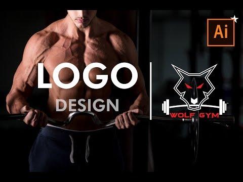 How to design an amazing logo for GYM| Illustrator Tutorial thumbnail