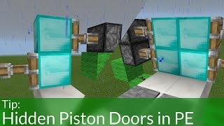 How To Build a Secret Entrance in Minecraft Pocket Edition