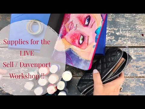 Art Supplies I'm bringing to Tonja Sell/ Jane Davenport LIVE Workshop