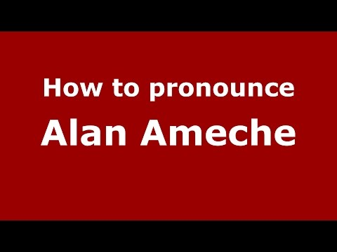 How to pronounce Alan Ameche (Italian/Italy)  - PronounceNames.com