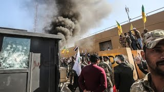 Protesters storm U.S. embassy in Iraq after deadly airstrikes