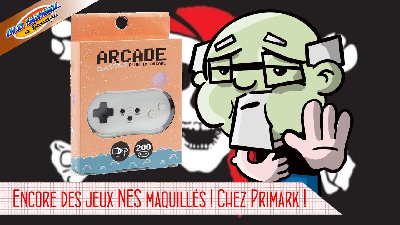 Des jeux Nintendo maquillés aussi chez Primark ! Plug in Arcade classics