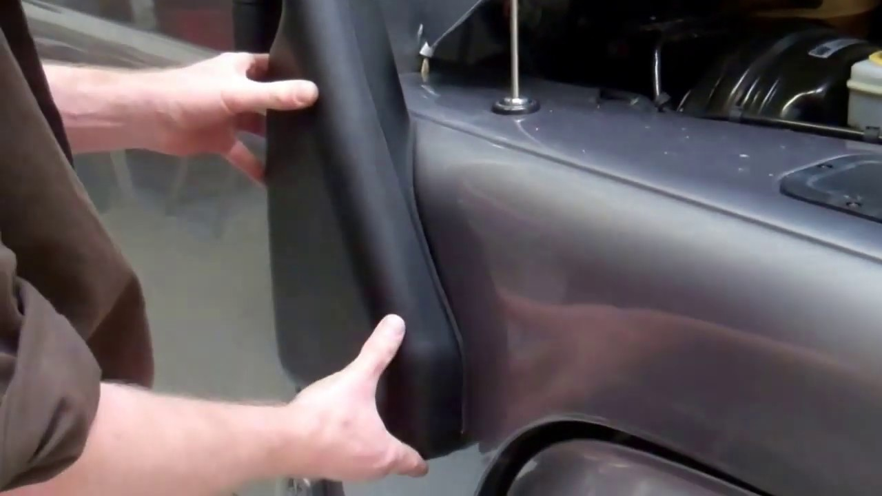 2014 Land Rover >> How to fit raised air intake snorkel to a Land Rover Defender TD4 Puma - YouTube