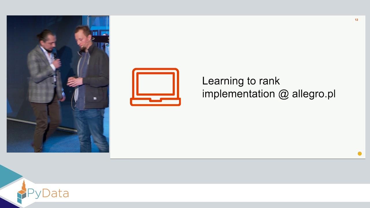 Image from Learning to rank @ allegro.pl - Tomasz Bartczak, Ireneusz Gawlik