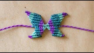 tutorial pulsera de mariposa en macrame butterfly macrame
