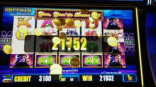 1 hour at San Manuel Casino playing Buffalo Deluxe 1/23/2019 (highlight reel)