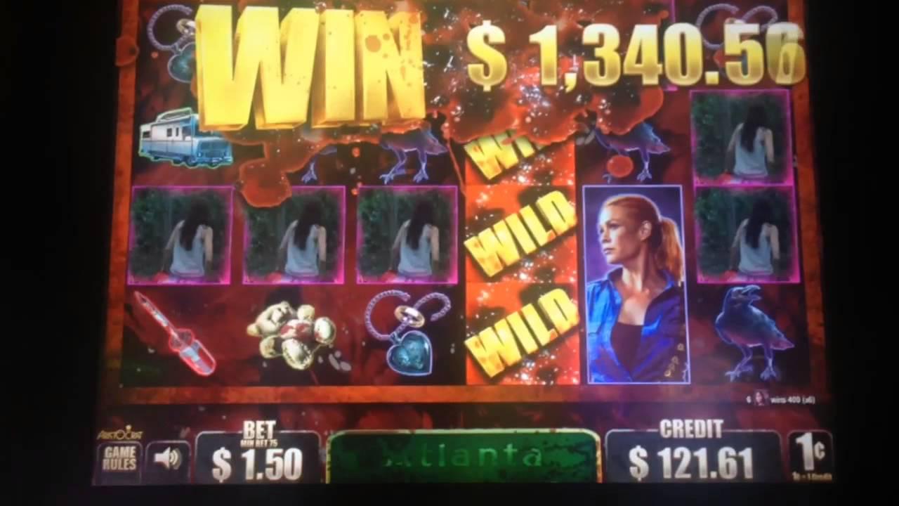 Jackpot 1 The Walking Dead Slot Machine Bonus Handpay