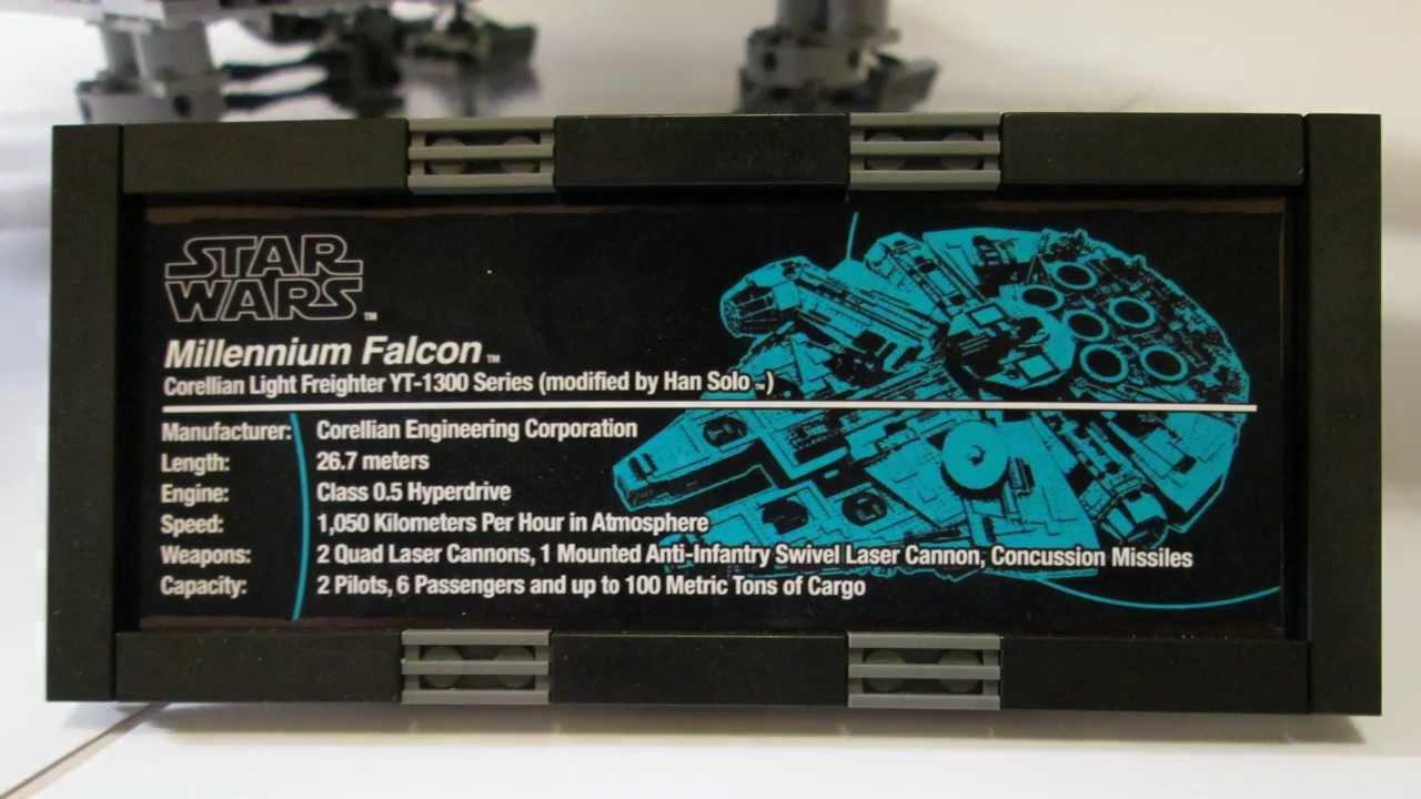 Custom LEGO 10179 UCS Millennium Falcon - YouTube