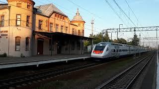 Скоростной Поезд Аллегро чуть не сбил человека на жд переезде
