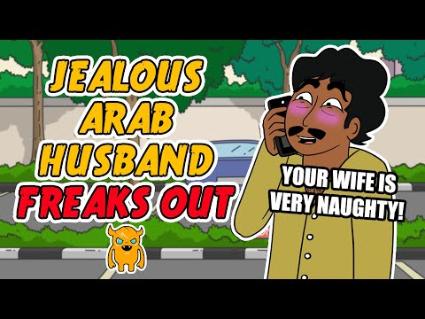 Jealous Arab Husband Loses his Mind (freaks out)