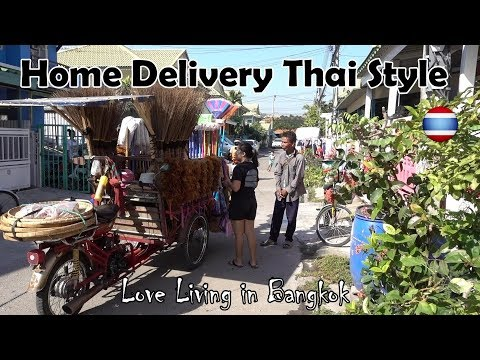 Cost of Living Home Delivery Thai Snacks Dessert Bangkok Suburbs