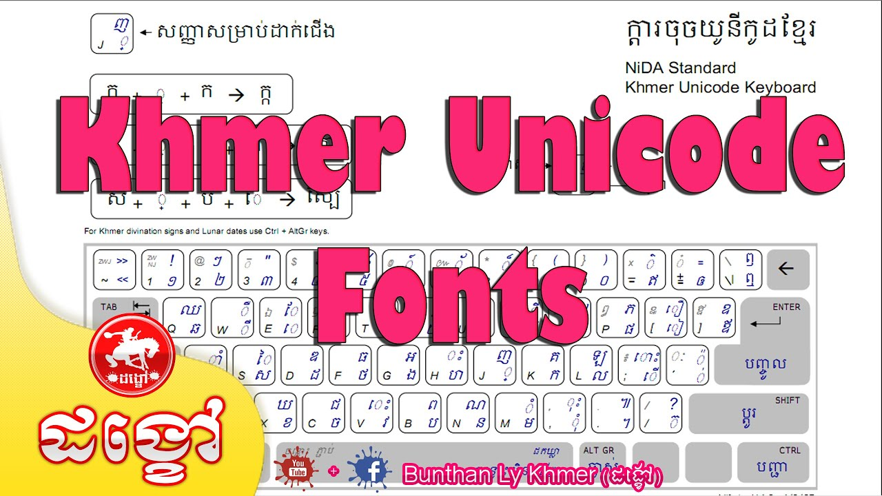 How to install Unicode Fonts for Office 2013 on Windows 10 (ដង្ខៅ)