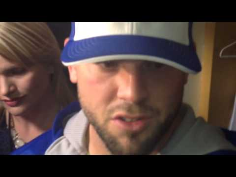 Mike Moustakas In The Royals Clubhouse After His Big Home Run
