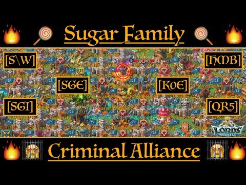 Total Destruction with Sugar Family & Criminal Alliance ! - Lords Mobile
