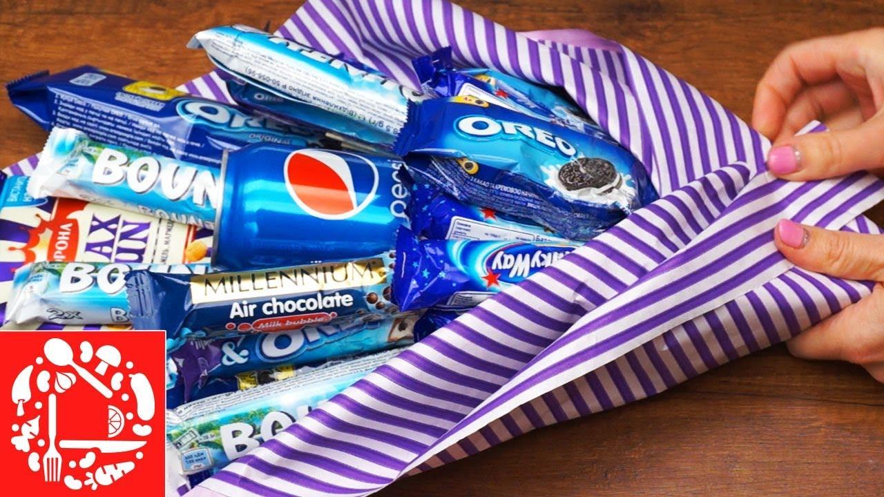 Как сделать сладкий букет из конфет для мальчика
