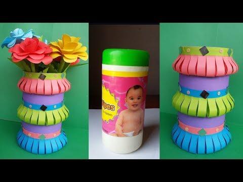 DIY:Waste Bottle Crafts!!! How to Make Best out of Waste Flower Vase !!! Unique