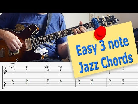 Triads! Easy 3 note Jazz Chords -  Must know Jazz Guitar Chords music