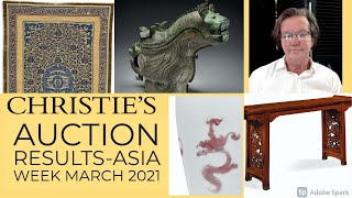 Christie's Asia Week Results NYC, Chinese Art and Fine Japanese Art
