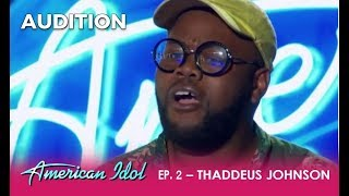 Thaddeus Johnson: Former Contestant Gives His DREAM a Second Chance! | American Idol 2018