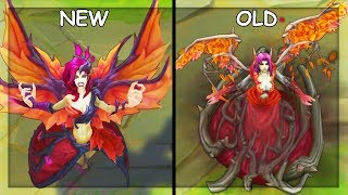 All Morgana Skins NEW and OLD Texture Comparison Rework 2019 (League of Legends)
