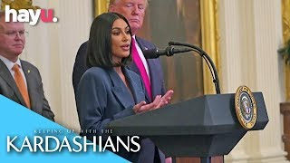 Kim Kardashian Speaks At The White House! | Season 17 | Keeping Up With The Kardashians