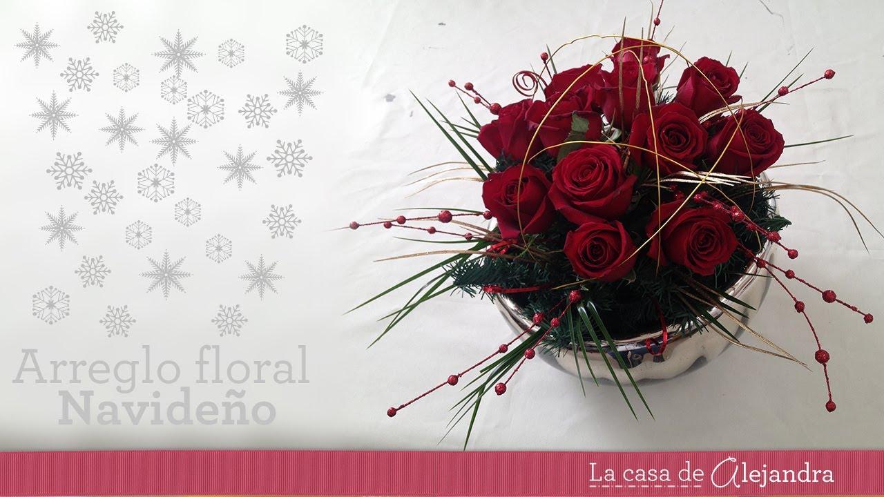 Centro De Mesa En Rojo Para Navidad Diy Floral Centerpice For Christmas