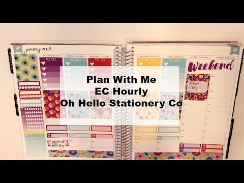Plan With Me | EC Hourly | Oh Hello Stationery Co