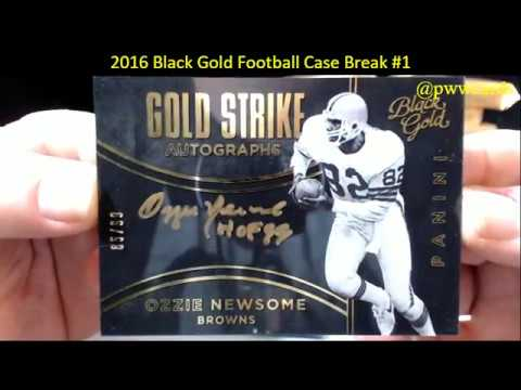2016 Black Gold Football Case Break #1 - YouTube