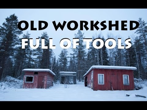Old Workshed full of Tools! + Cabin / URBAN EXPLORATION (Finland)