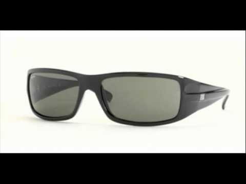 0c85059b2b Ray Ban Highstreet Shiny Black RB 4057 601 Sunglasses - YouTube