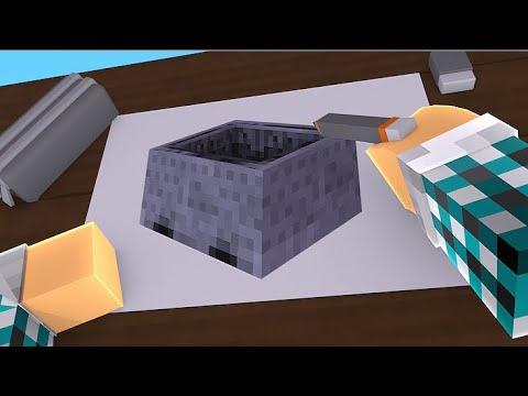 Colorindo Um Carrinho Do Minecraft Minecraft Desenho 4