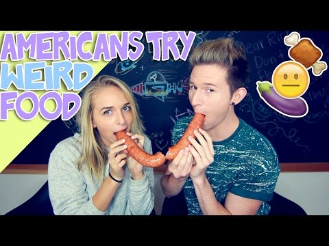 AMERICANS TRY WEIRD AMERICAN FOOD w/ jennxpenn