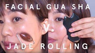 1x Természetes Guasha Arc Jade Roller