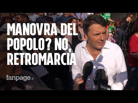 """Pd in piazza del Popolo, Matteo Renzi: """"Questo governo sta mettendo in ginocchio le famiglie"""""""