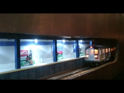O Gauge Subway Stations – MTH R-36 and R-142 subway trains (2.28.15)