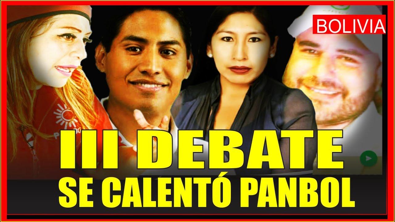 Elecciones en Bolivia. Debaten candidatos Simón(CREEMOS), Nina(PANBOL), Guachala(MAS) y Apodaca(FPV)