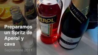 Preparamos unos Spritz con Aperol y Cava de aperitivo