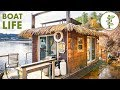 Awesome Thatch Roof Tiny House Boat - Living on the Water