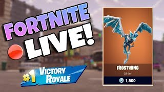 NEW FROSTWING GLIDER GAMEPLAY / Fortnite Battle Royale Live / 128+ Wins 5300+ Kills