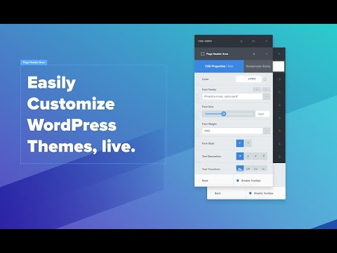 CSS Hero Introduction. How to easily customize WordPress themes