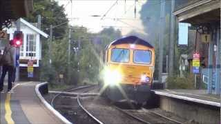 (HD) Newly Named 66745 at Stowmarket 4th October 2012