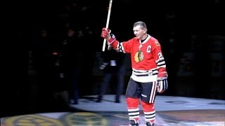 Public visitation for Blackhawks legend Stan Mikita held at United Center