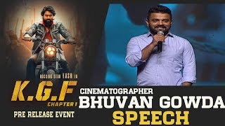 Cinematographer Bhuvan Gowda Speech @ KGF Movie Pre Release Event