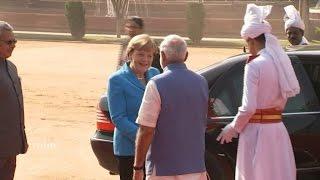 Merkel in Neu-Delhi